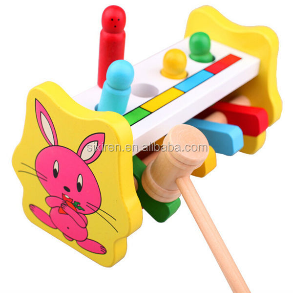 Wooden Tapping Tool Children Kids Educational Toys