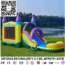 Cheap inflatable module combo wet or dry slide inflatable party jumpers bouncers for sale