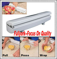 Wraptastic As Seen On TV Plastic Food Wrap Dispenser Cling Film Cutter