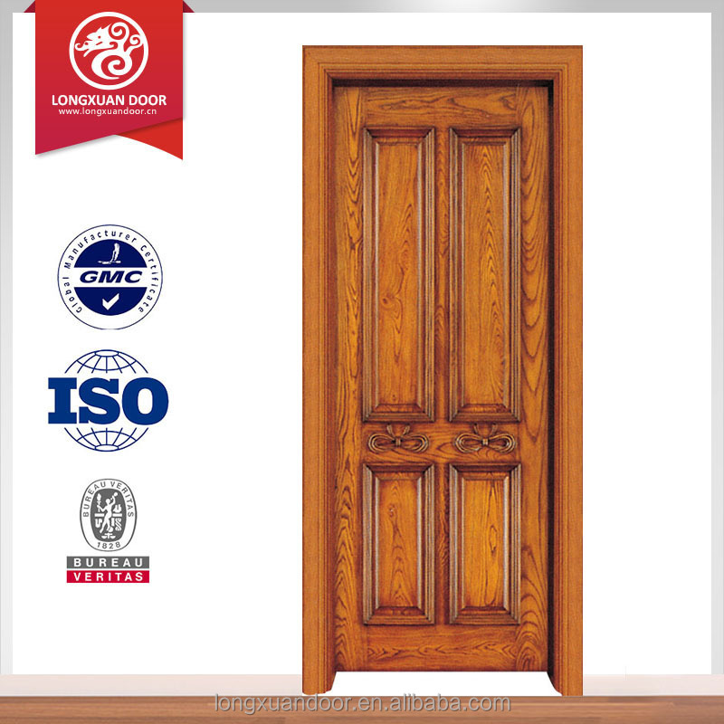 Teak Wood Single& Double Entry Door Design, Used Solid Wood Interior Doors, new design solid wood door