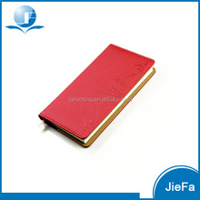 Leather Cover Embossed Indexed Notebook