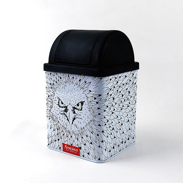 LANGUO cartoon design small size rectangular dustbin/craft box for wholesale model:LGFN-2019