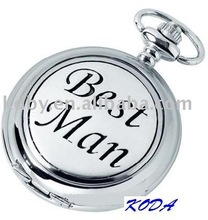 Engraved Letters Gifts Man Cheap Pocket Watch