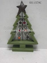 "9-7/8""H Christmas Wood Tree Decorations"