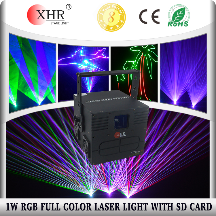 RGB 1w 1000mw Text Logo Laser Animation Laser Projector With Sd Card