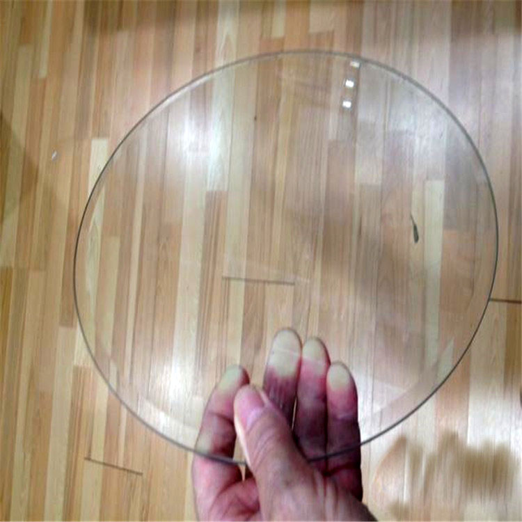 4mm cut size ultra clear float round glass with polished edges