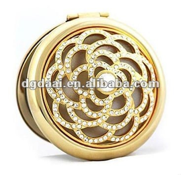2012 hot sale wedding gifts crystal compact mirror