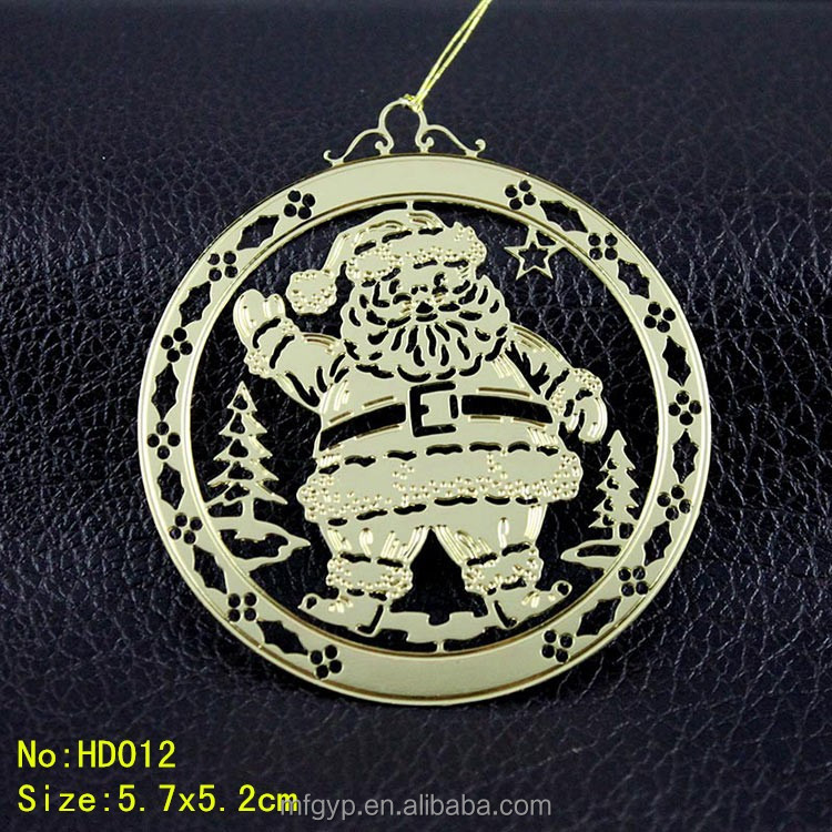 China wholesale custom brass christmas ornament