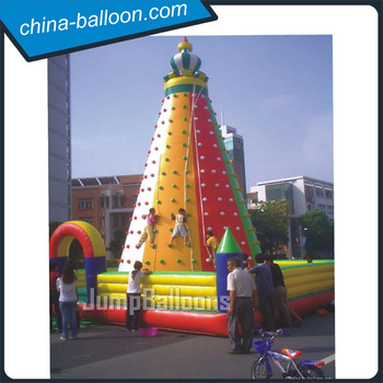 outdoor game inflatable rock climbing wall / commercial rock climbing walls