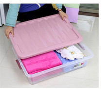 Clear Waterproof Plastic Storage Box With Lid for Clothes