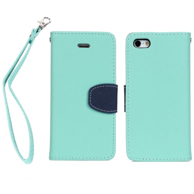 stand leather wallet for iphone 5 cross line case, PU leather cases