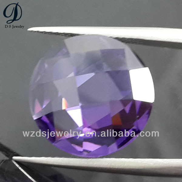 DS Jewelry 2014 new products double faces lab created amethyst gems