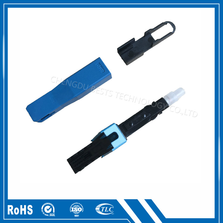 Fiber optic fast conector SC UPC for drop cable