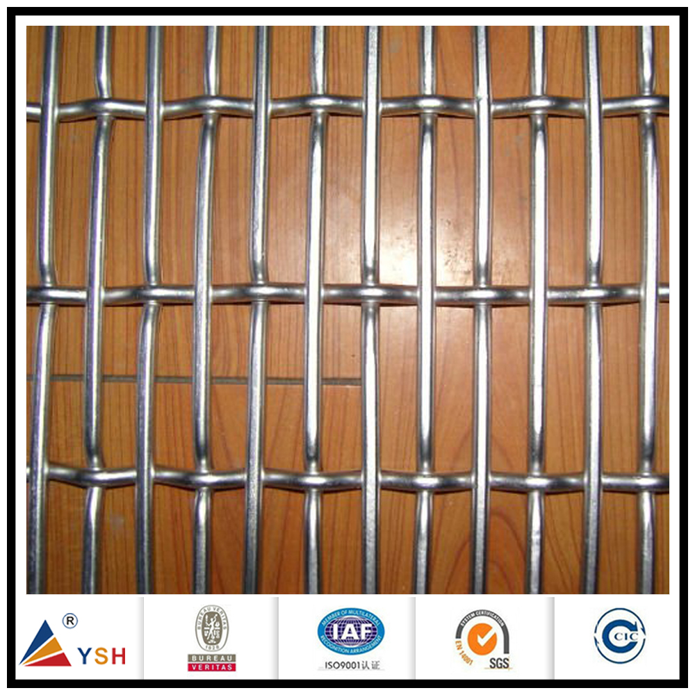 Steel wire grid galvanized crimped mesh