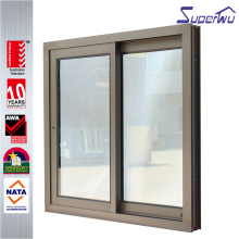 New design elegant aluminum sliding shed window with mosquito screen