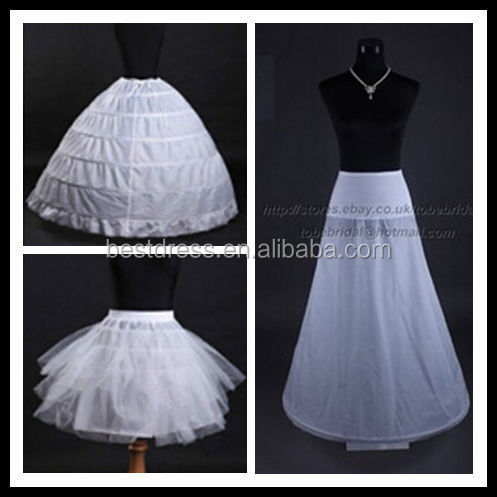 NEW HOT Modern Style and OEM Service Supply Type ivory petticoat for wedding dress bridal crinoline petticoat China supperliers