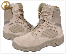 Hot sale leather waterproof tactical army delta force military boots