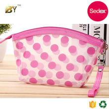 Sedex audit factory Custom promotion cosmetic pouch bag/ toiletry pouch/ clear makeup bag