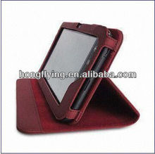 Leather Case for Tablet PC, Compatible with Dell Streak Mini 5, w/ Multi-angle Adjustable Kickstand