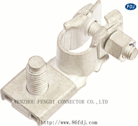 positive and negative forging car battery terminals clamps auto aluminum Punching battery terminals accessories