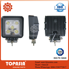 TOPASIA led working light with flash 4 Inch 15W spot Square used for car/motorcycles/jeep