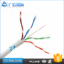 HDPE Insulation polyester / aluminum foil 4 pair 24awg ftp cat5e network cable