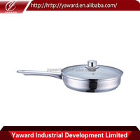 Different Design Stainless Steel Ceramic Coating Frying Pan With Induction Bottom