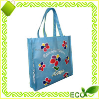 recycled pp plastic OEM logo customzed design reusable heavy duty non woven tote bag