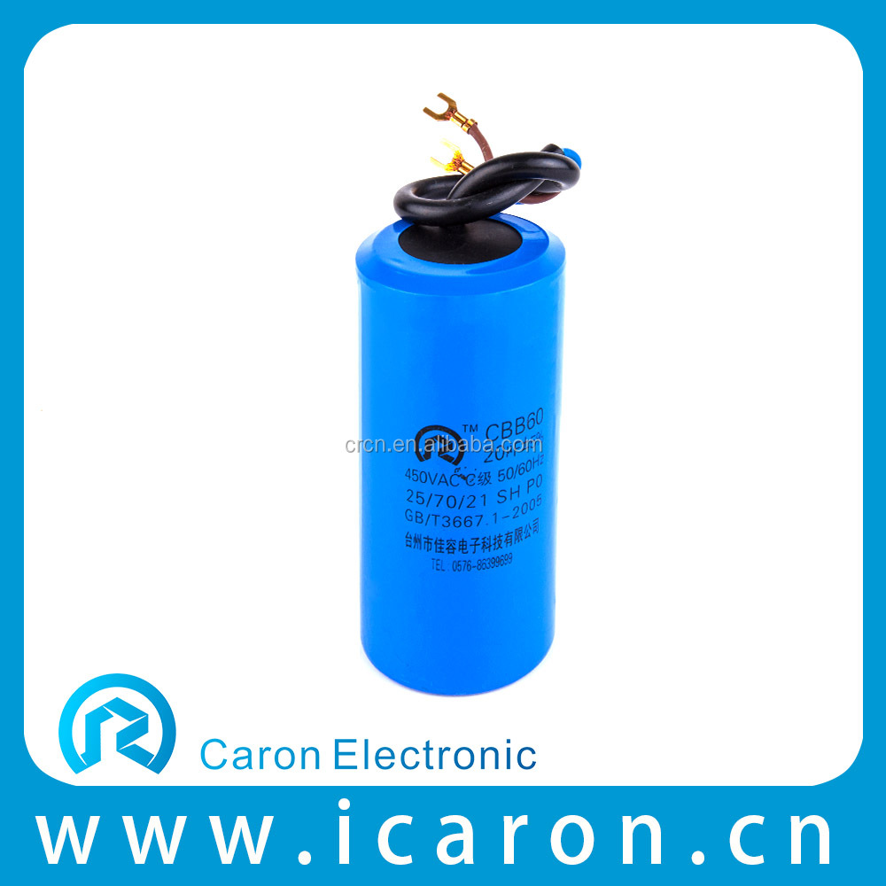 High tolerance huizhong cbb60 capacitor 250v in pompe