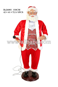 Karaoke Santa Claus Dancing and Moving A/C Operated Karaoke Sana with Microphone