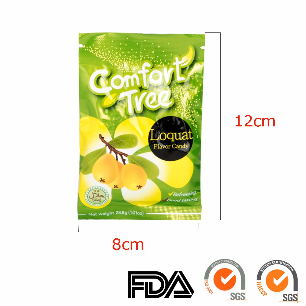 FDA ISO HACCP best quality sore throat candy lozenge with loquat flavor