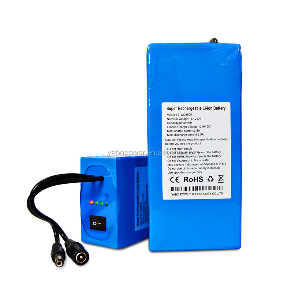 OEM and ODM li-ion battery pack 12v 10ah with 1 year warranty for LED panel and solar system