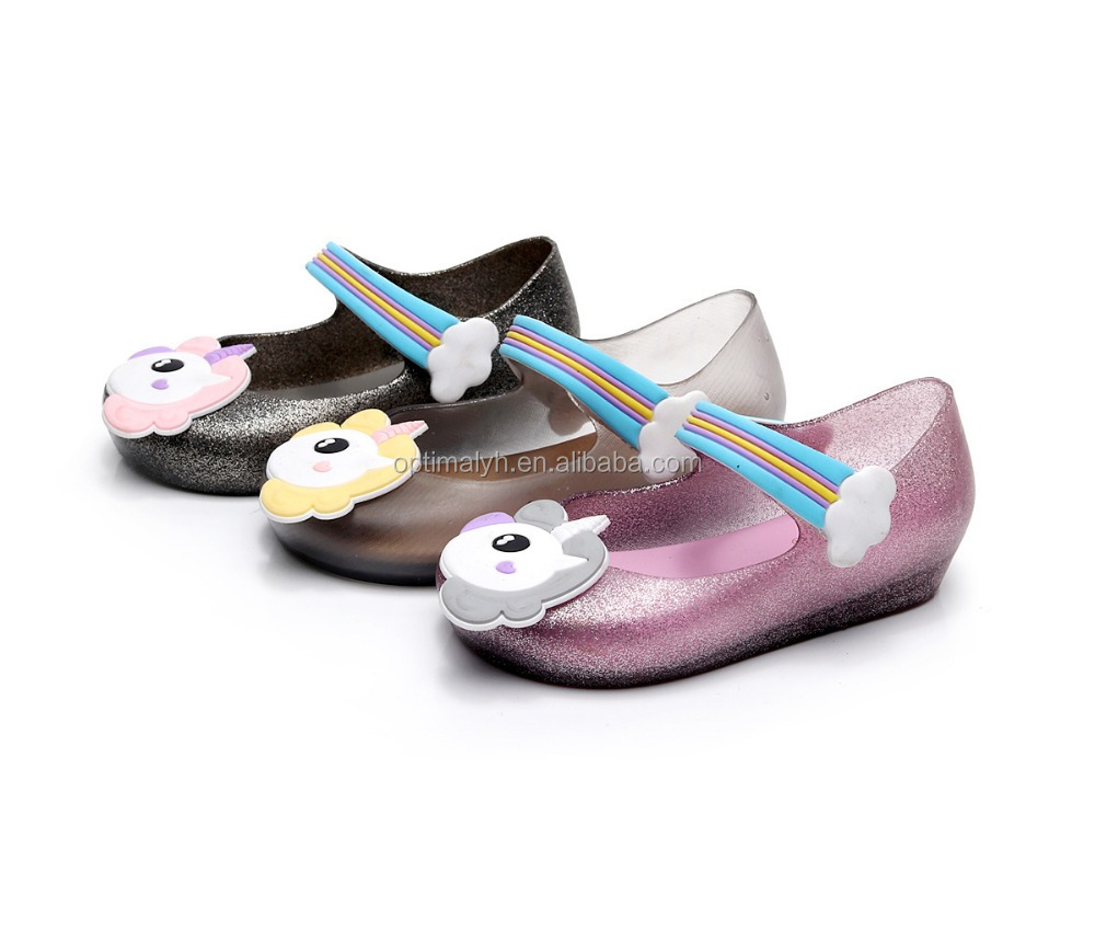 New designs girls summber Jelly shoes kids unicorn fashion Melissa <strong>sandals</strong>