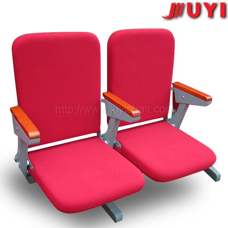 JY-308 factory price Folding up furniture chairs folding cheap auditorium chair with folding table