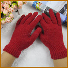 winter acrylic leather safety mittens for adults