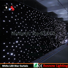 dj club stage curtain RGB led star cloth for weddings dmx512 stage curtain