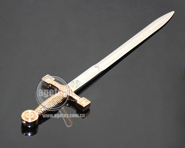 Sword Shape Customized Souvenirs Zinc Alloy Silver Color Metal Sword Letter Opener