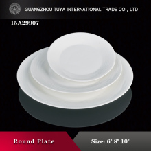 New design bead edge plain plate charge plates sushi plate for sale