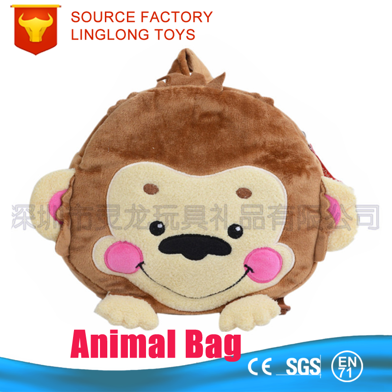 China Suppliers Plush Stuffed Animal Lovely Monkey Animal Bag