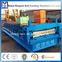 HX840+850 Boltless Aluminium Roofing Sheet Metal Cold Roll Forming Machine Corrugated Sheet Rolling Machine