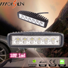 High quality mining work light 18W 12V black/white Car Led Work Light Bar led work light bar