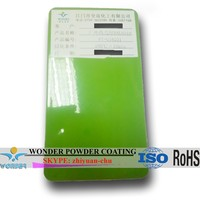 Outdoor big size machine casing use high gloss RAL 6018 green powder coating with ROHS standard