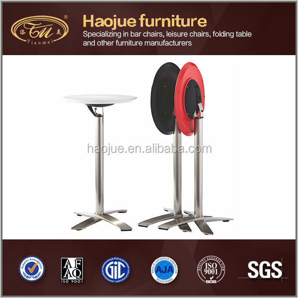 C63 Haojue modern folding wood ABS plastic stand height adjustable table