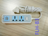 usb extension socket ,3 pin 2 ways convenience outlet socket