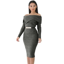 Z92442A 2017 Hot Selling Night Club Slim Women Dress Sexy Bodycon Two Pieces Women Dress