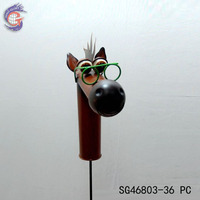 export metal iron craft funny horse shape stick decoration