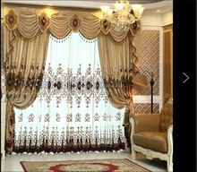 Luxury window curtains and drapes blackout fabric curtains for the living room