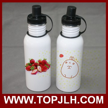 Custom logo Drinking water bottle with stainless steel band