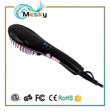 2017 Hot Sell Temperature Control fast hair straightener with LED Display Made in Shenzhen,Heating Hair Straightener Brush