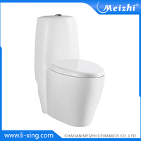 Bathroom ceramic siphon 1 piece toilet logo